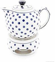Bunzlauer Keramik Teekanne 1.0L mit Stövchen