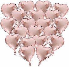 BUONDAC 20 Stk 18 Zoll Rosegold Herzballons