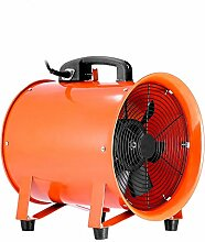 BuoQua Gebläse Lüfter 12 Zoll Industrie Ventilator 71 DB (A) 3300 R/Min Praktisch Tragbar Windmaschine Mit Grill Leise IP54 Ventilator Lüfter