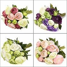 bureze 10-Silk künstliche Blume Camellia Hochzeit Bouquet Party-Dekoration