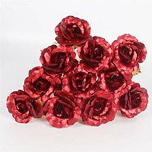 Bureze 11 Stück/Lot künstliche goldene Rosen