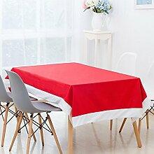 bureze 130x 180cm rot Vlies Wohltätigkeitszwecke Stoff Tischdecke