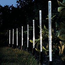 Bureze Solarbetriebene LED-Lampe, Acryl, Weiß