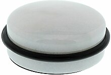 BURG-WÄCHTER Türstopper aus Mamor, Höhe: 46 mm, Durchmesser: 110 mm, Gewicht: ca. 900 g, TSB 2595 MA W, Weiß polier