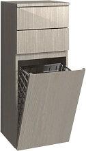 Burgbad Bel Highboard / Halbhoher Schrank - 40 cm breit, mit Spiegel und Wäschekippe - THERMOFORMFRONT- B: 400 H: 980 T: 350