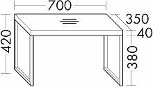 Burgbad Coco Sitzbank - Hocker mit Fußgestell aus Metall - LACK HGL ODER ECHTHOLZ FURNIERT- B: 700 H: 420 T: 350