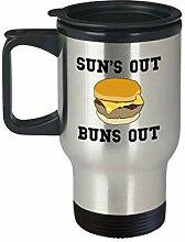 Burger-Tasse, Grill-Reisetasse, Geschenk für