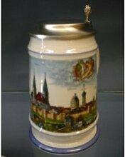 Burgherren-seidel Bier-Krug Bierseidel Augsburg