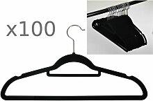 Buri - 100er Set rutschfeste Kleiderbügel
