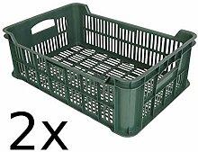 Buri 2X Obst- und Gemüsekiste Kartoffelkiste Kiste Lagerkiste Gemüse Transportkiste