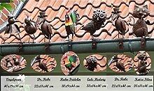 BURI Dachrinnenfiguren 6er-Set Dachschmuck