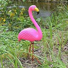 BURI Gartenstecker Flamingo 56cm Teichdeko