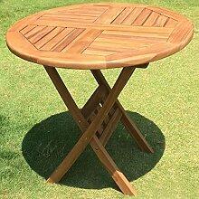 Buri Gartentisch 80cm Teak Holz Klapptisch