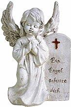 BURI Grab-Spruchstein Engel mit Flügeln Höhe