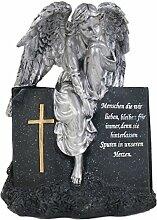BURI Grab-Spruchstein Engel sitzend 28cm