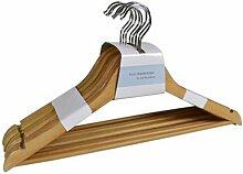 Buri - Holz-Kleiderbügel mit Steg 8er-Set