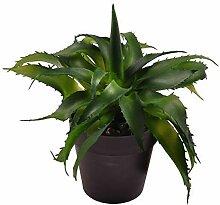 Buri Künstliche Aloe Vera 18cm im Blumentopf