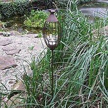 BURI Metall-Gartenstecker Vogelkäfig Windlicht