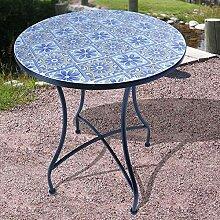 BURI Mosaiktisch Verona Ø59,5cm Gartentisch