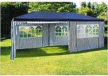 BURI Party-Pavillon 6x3m Blau-Weiß Gartenpavillon