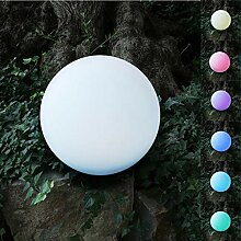 BURI Solar-LED-Gartenleuchte Kugel 30cm