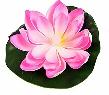 Buri Solar LED Seerose Teichdeko Teichpflanze Wasserpflanze Gartenteich Gartendeko, Farbe:rosa