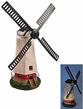 Buri Solar-Windmühle 50cm LED Windrad Beleuchtung