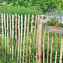 BURI Staketenzaun 0,9x5m Gartenzaun Holzzaun