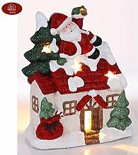 BURI Weihnachtshaus mit Weihnachtsmann und