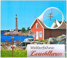 Buri Wetterfahne Leuchtturm Kupferfarben Windrad
