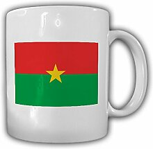 Burkina Faso Flagge Fahne Afrika - Tasse Becher