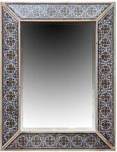 Burkina Home Decor 701496Spiegel Dekoration, Holz, Grau, 76x 7x 96cm
