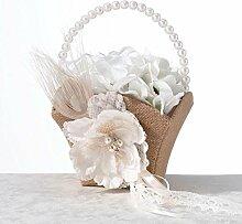 Burlap & Lace Bride Bridesmaid Hochzeit Bouguet