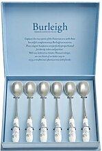Burleigh Blue Asiatic Pheasants Teaspoons Set of 6