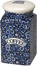 Burleigh Calico-Kaffee quadratisch blau verdeckt Vorratsdose, NEU