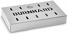 Burnhard Edelstahl Räucherbox 21x13x3,5 cm,