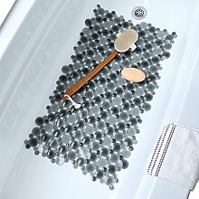 Burst of Bubbles Bath Tub & Shower Mat (Grey) by