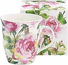 Burton & Burton Porzellanbecher Pink Roses