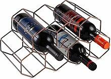 Buruis Weinregal aus Metall für 9 Flaschen,