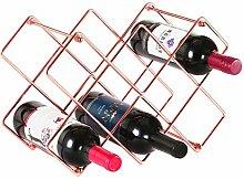 Buruis Weinregal für 10 Flaschen, Weinhalter für