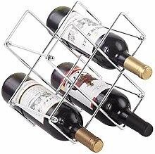 Buruis Weinregal für 6 Flaschen, Weinhalter für