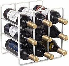 Buruis Weinregal, für 9 Flaschen, Metall,