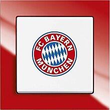 Busch-Jaeger Wechselschalter 2000/6UJ/03 Fanschalter FC Bayern München, 1012-0-2201