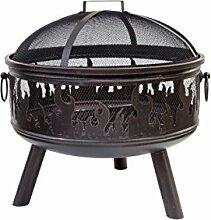 Buschbeck Feuerstelle, Feuerkorb Wildfire, bronze,