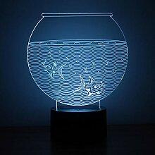 Busjk Nachtlichter Aquarium 3D Nachtlicht Touch