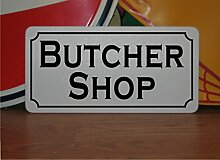 Butcher Shop Metall Zeichen für Lebensmittel und Getränke Truck zugeständnis Trailer Menu