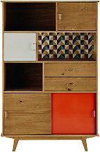 Buten Bücherregal im Vintage-Stil mit 2
