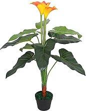 Butifooy Künstliche Calla-Lilie mit Topf 85 cm
