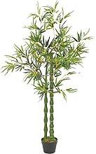 Butifooy Künstliche Pflanze Bambus mit Topf Grün