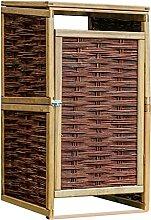 Butifooy Mülltonnenbox für 1 Tonne Kiefernholz